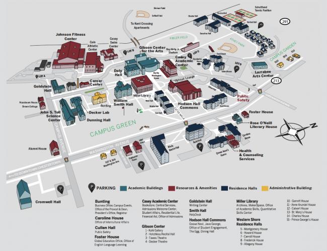 university of mary washington campus map Campus Map university of mary washington campus map