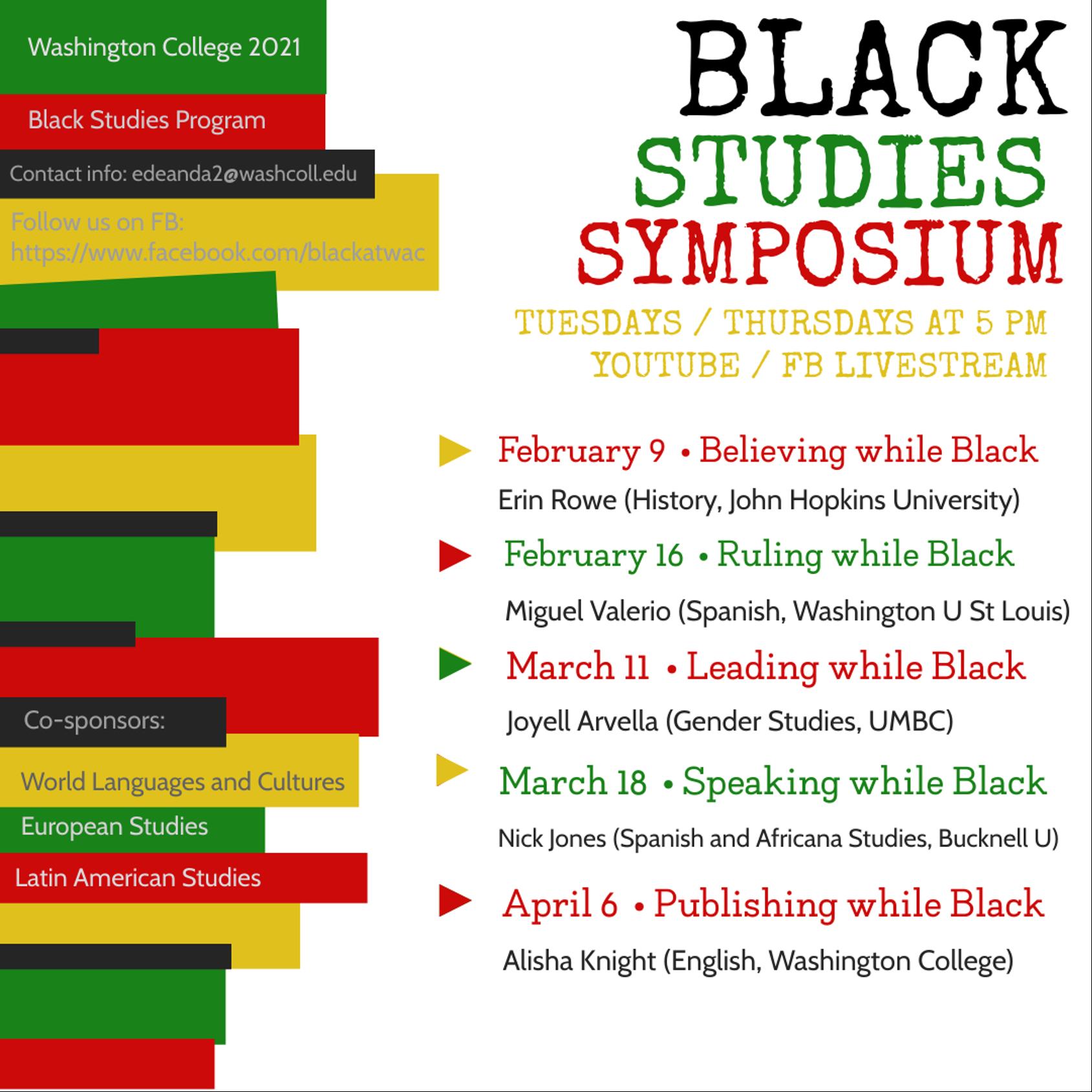 Black Studies Symposium - Believing while Black